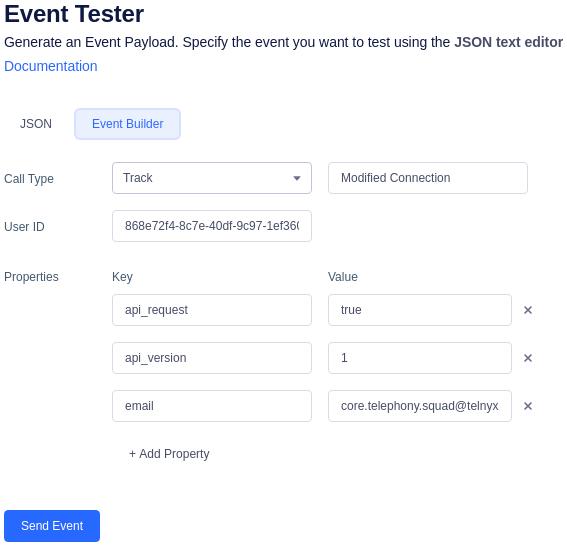 Segment Event Tester Builder
