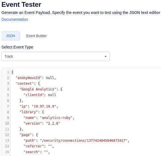 Segment JSON Event Tester