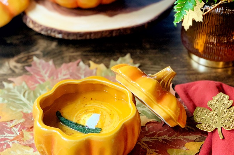 Butternut Squash Soup with Brown Butter and Sage