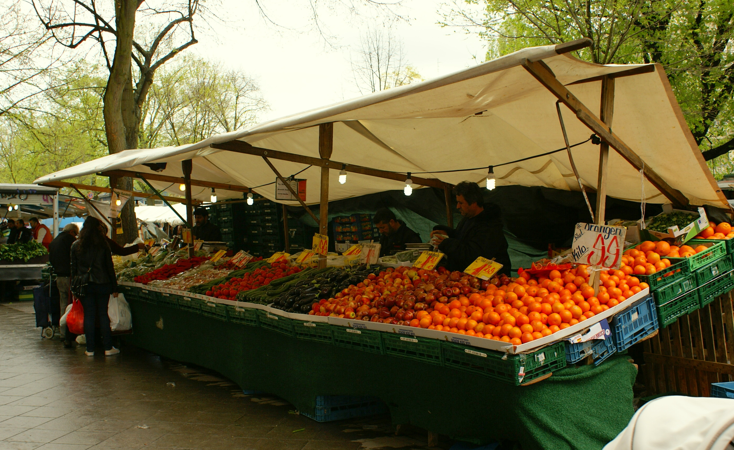 Produce stall at Turkish Market