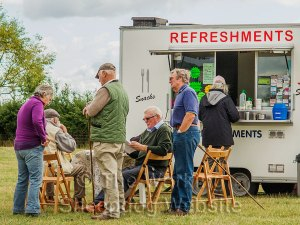 Competitors taking refreshments - Evesham Sheepdog Trials 2013