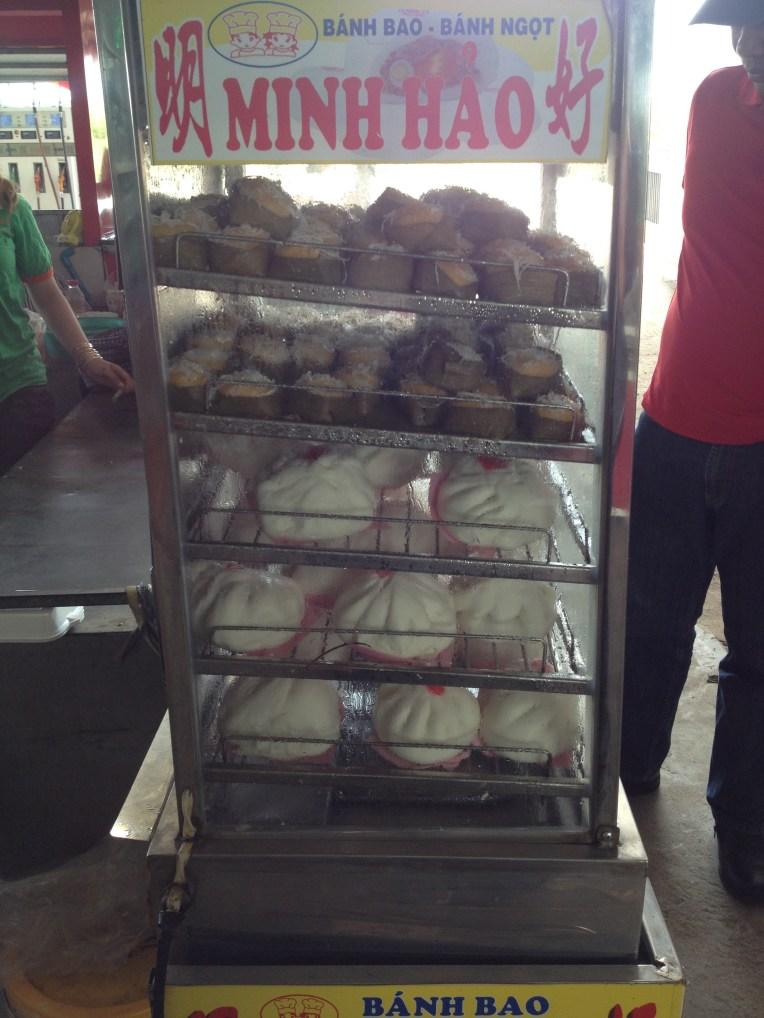 Our fav snacks. Lemon coconut cake and meat dumpling