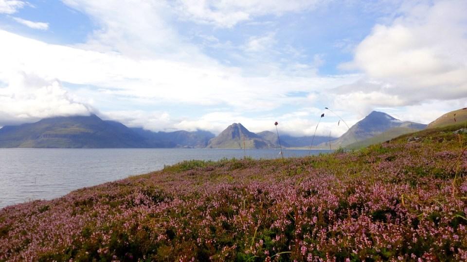 cliffs in elgol - skye isle