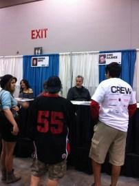 John Delancie aka Q from Star Trek Next Generation at the Celebrity Autograph area