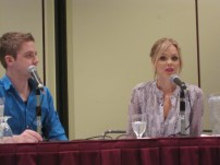Laura Vandervoort during her Q&A panel at Comic Con Toronto 2013