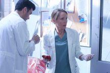 Benjamin Ayers as Zach Miller and Michelle Nolden as Dawn Bell