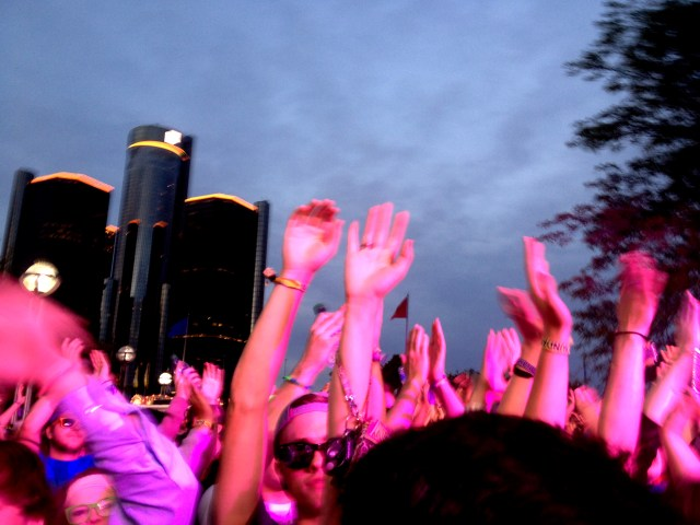 "The song ""Put Your Hands Up for Detroit"" by Fedde LeGrand resonated during this whole weekend."