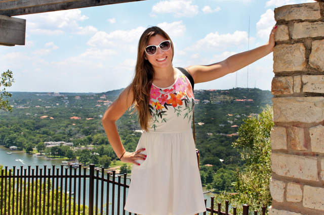 Top of the World at Mount Bonnell. Not pulling an Antoinette.