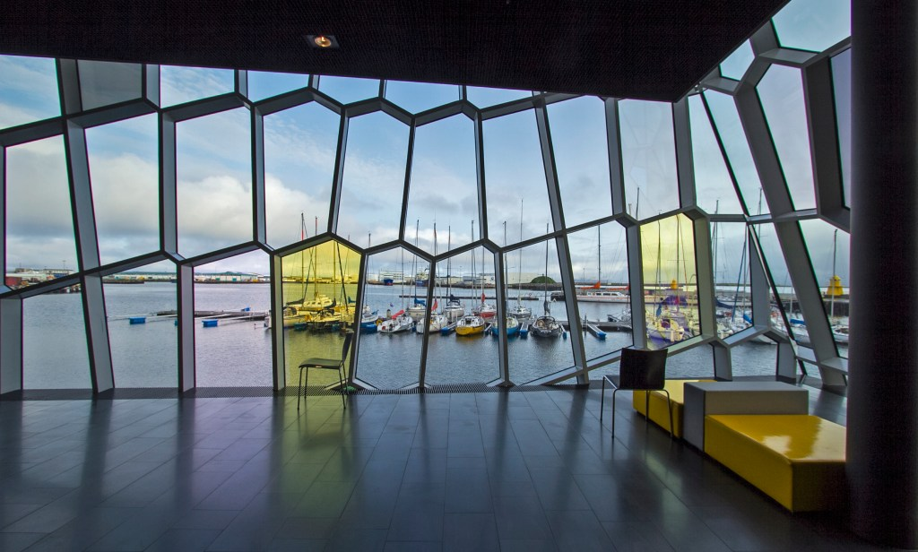 Day 1 Stop during your Iceland Itinerary: Harpa.