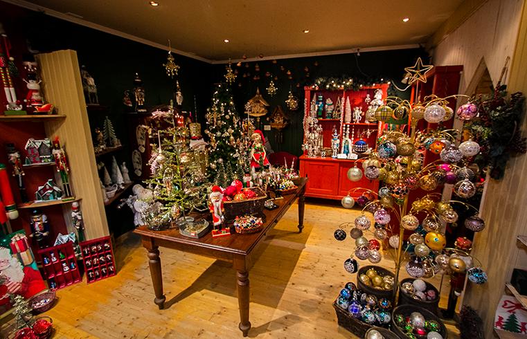 The interior of Jólagarðurinn, The Christmas Garden store in Akureyri, Iceland.