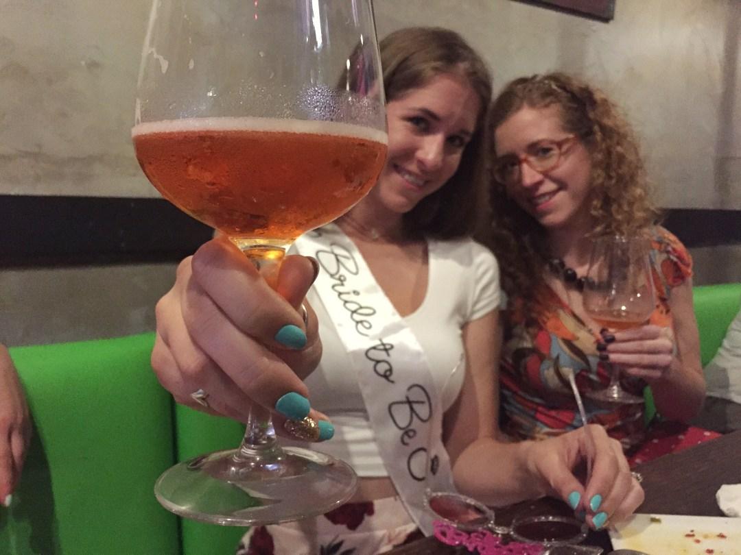 bachelorette party festivities in Miami
