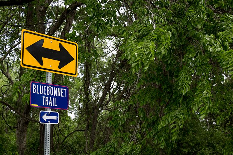 Ennis Bluebonnet Trail sign