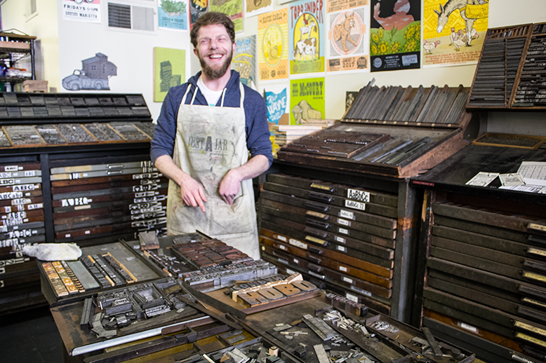 justAjar design press - a letterpress studio in Marietta
