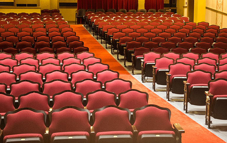 the seats at the Peoples Bank theatre in Marietta Ohio