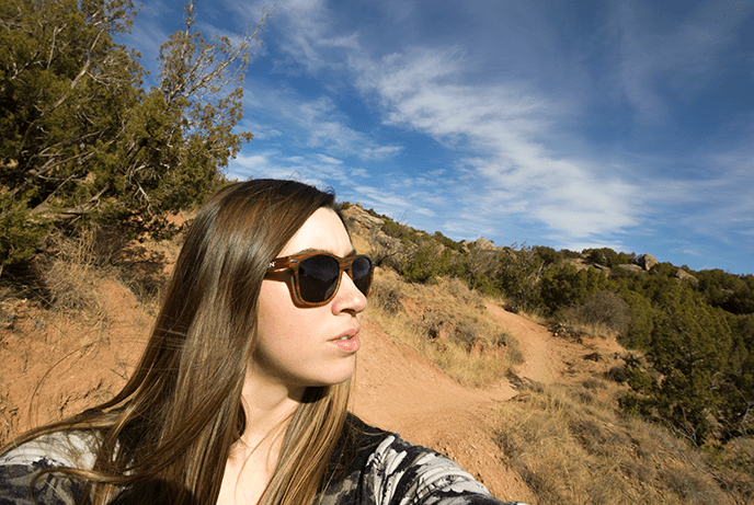 selfie of travel blogger Amanda in Palo Duro Canyon Texas