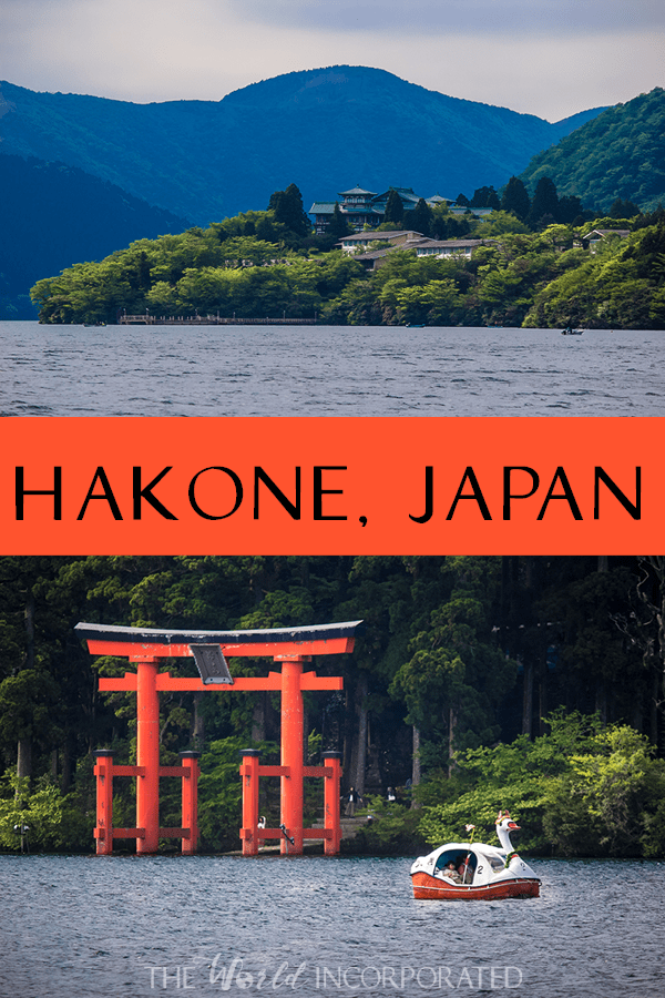 Hakone, Japan is a beautiful resort town nestled in the volcanic region near Mount Fuji. If Hakone is on your Japan itinerary, here are some Hakone travel tips with things to do in Hakone, places to stay in Hakone, and what to eat in Hakone. Photo is of Lake Ashi in Hakone.