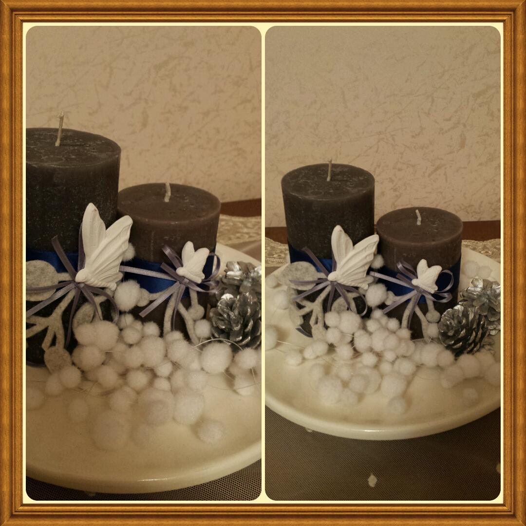 Candele e vasetti decorati con gessetti profumati