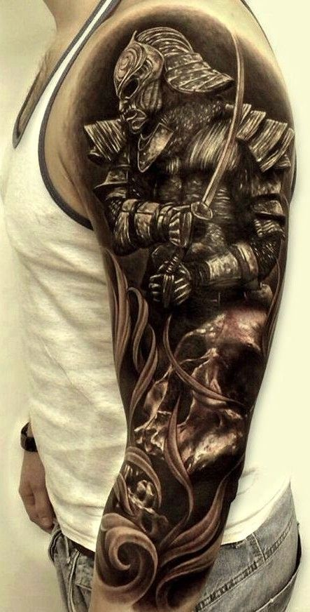 Warrior Tattoos Sleeves : warrior, tattoos, sleeves, Warrior, Sleeve, Tattoo, Gallery, Collection