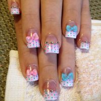 Nail Design With Bows And Diamonds | www.pixshark.com ...