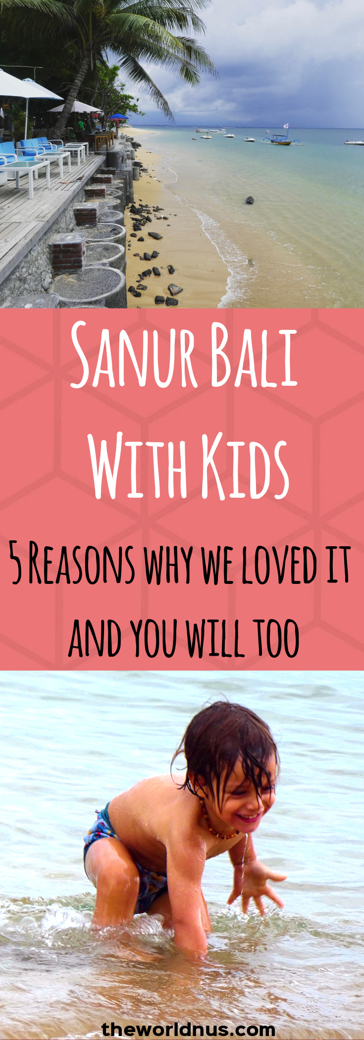 Travel with kids // Sanur Bali With Kids // If you are thinking of heading to Bali with a baby or toddler, then read along! Here we give you the scoop on Sanur Bali with kids and the five reasons why we loved it and you will too.