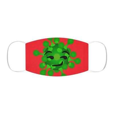Smirking Virus Face Mask (Red)