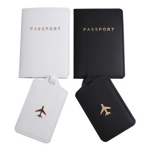 COUPLE PASSPORT COVER AND LUGGAGE TAG SET