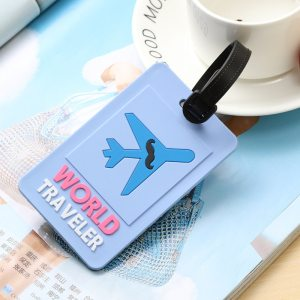 1 - Blue World Traveler - LITTLE TRAVELER LUGGAGE TAG