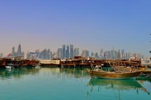 Dhow Harbour near Souq Waqif Doha Qatar
