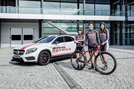 Mercedes-AMG sponsors the AMG Rotwild mountainbike racing team