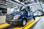 The Mercedes-Benz plant in Ludwigsfelde. The new Sprinters roll off the line in the Finish section of the plant.