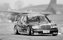 Airfield race Wunstorf, 9 June 1991. Klaus Ludwig (number 8) on AMG Mercedes-Benz racing touring car 190 E 2.5-16 Evolution II (W 201)