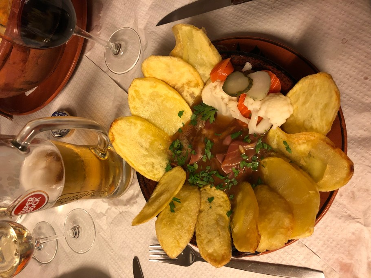 Steak portugese style