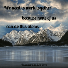 """Twinepathy Quote """"Together"""" - Esther"""