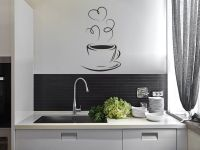 Coffee Cup Silhouette Kitchen Wall Sticker Modern Decal ...