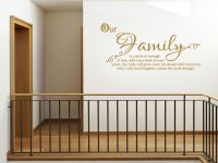 Family Wall Quote Our Family Wall Art Sticker Vinyl ...