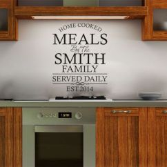 Kitchen Wall Art Assembled Island Personalised Family Quote Sticker Decal Modern Transfer