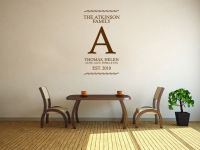 PERSONALISED Family Name Wall Art Sticker Vinyl Wall ...