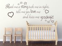 Read me a story tuck me in tight.. Childs Nursery Wall Art ...