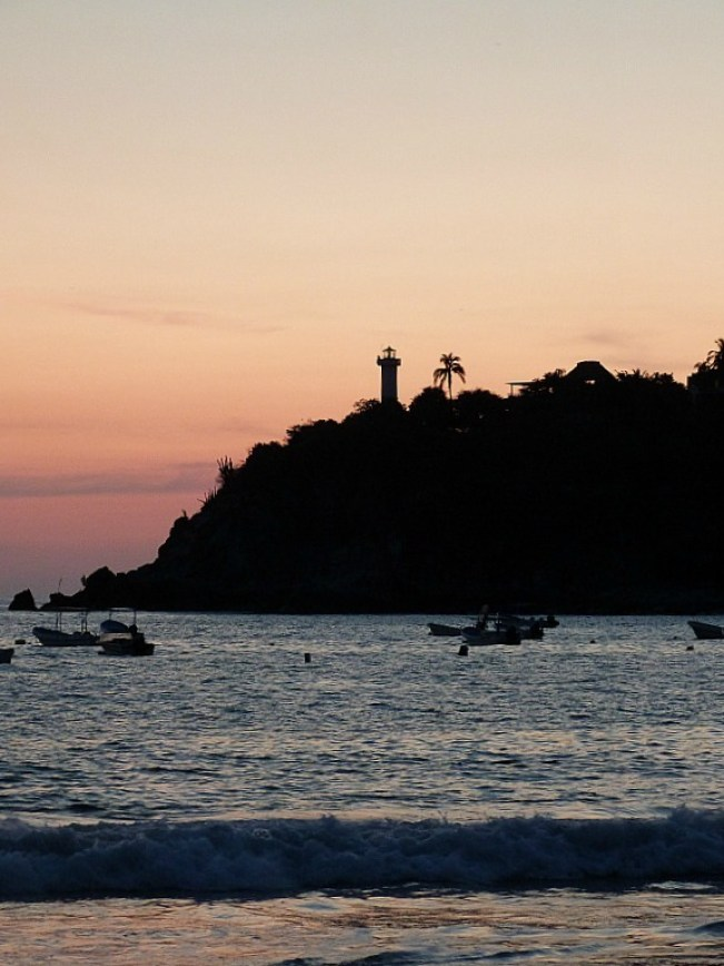 Sunset in Puerto Escondido, Mexico