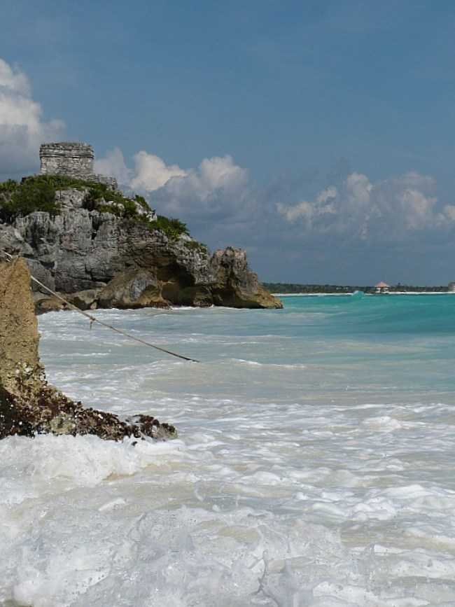 Tulum ruins on the Yucatan Coast of Mexico
