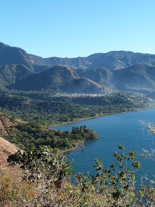 View over Lake Atitlan in Guatemala