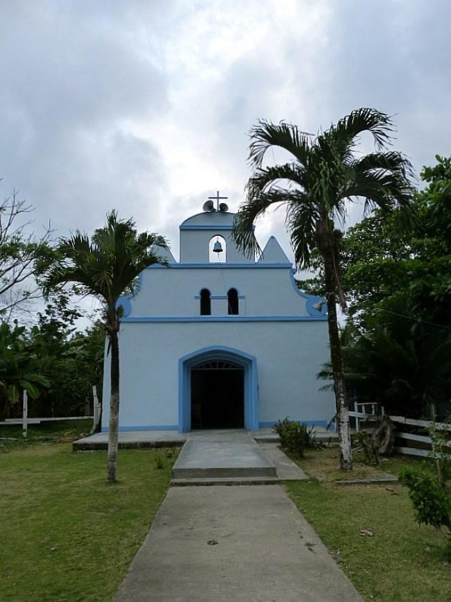 Tiny church in Capurgana, Colombia