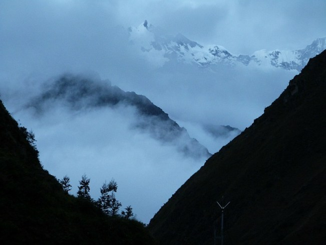 Evening Mountains on the Inca Trail in Peru
