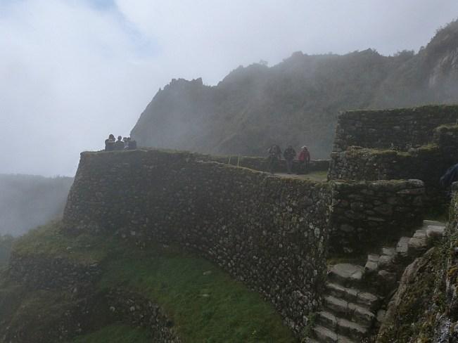 Inca site Phuyupatamark on Day three of the Inca Trail in Peru