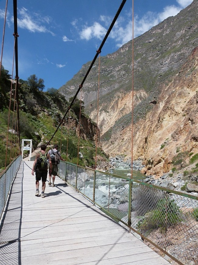 Hiking in the Colca Canyon, Peru