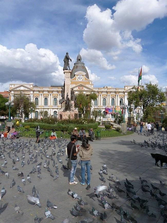Plaza Murillo in La Paz, Bolivia