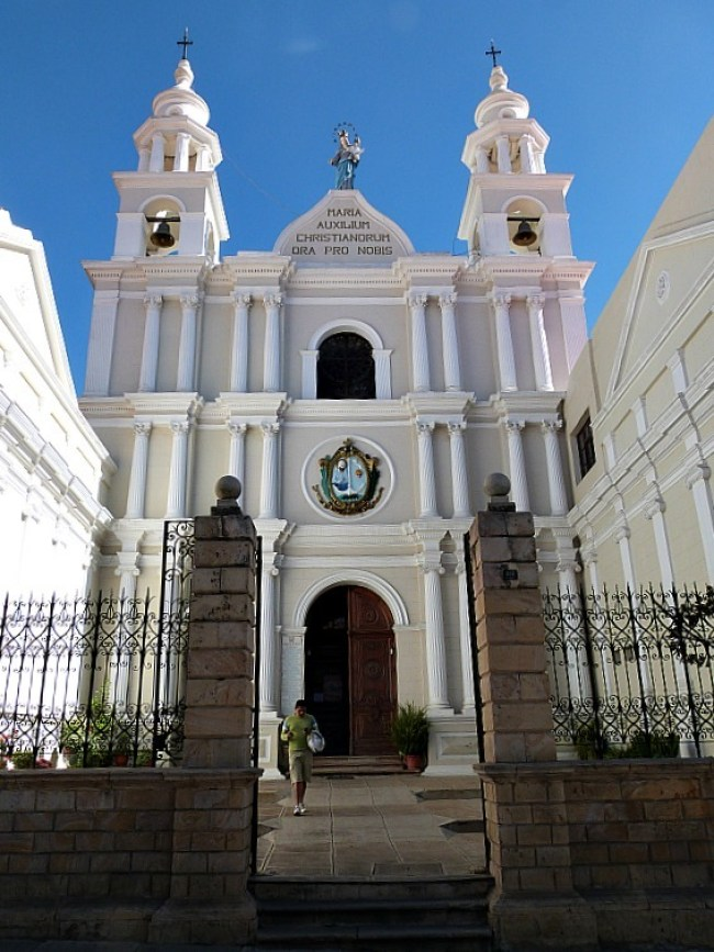 Beautiful colonial building in Sucre, Southern Bolivia