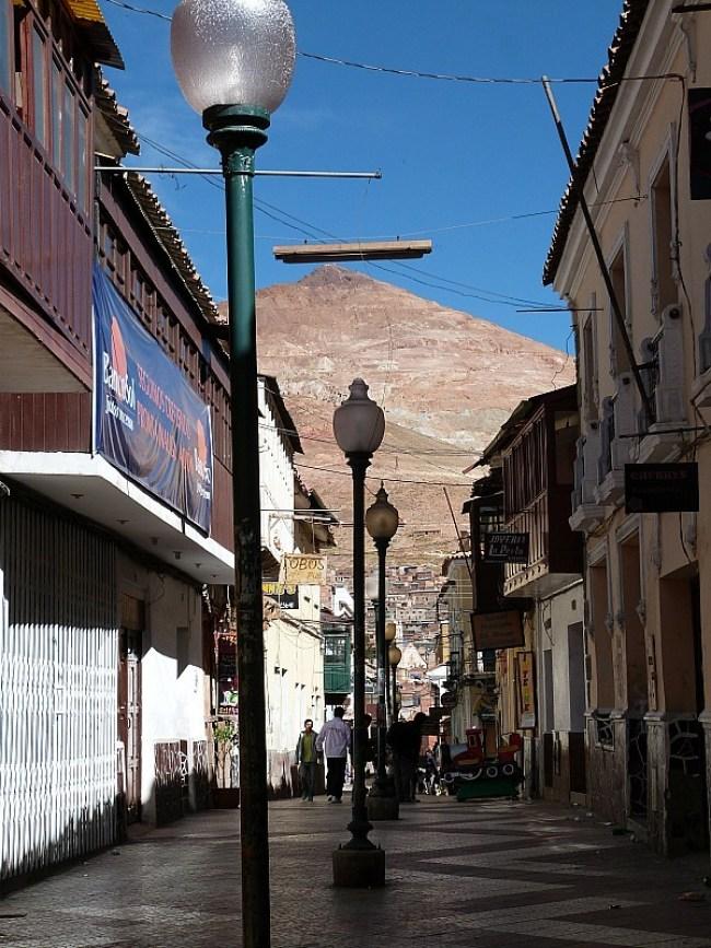 Street in Potosi, Southern Bolivia