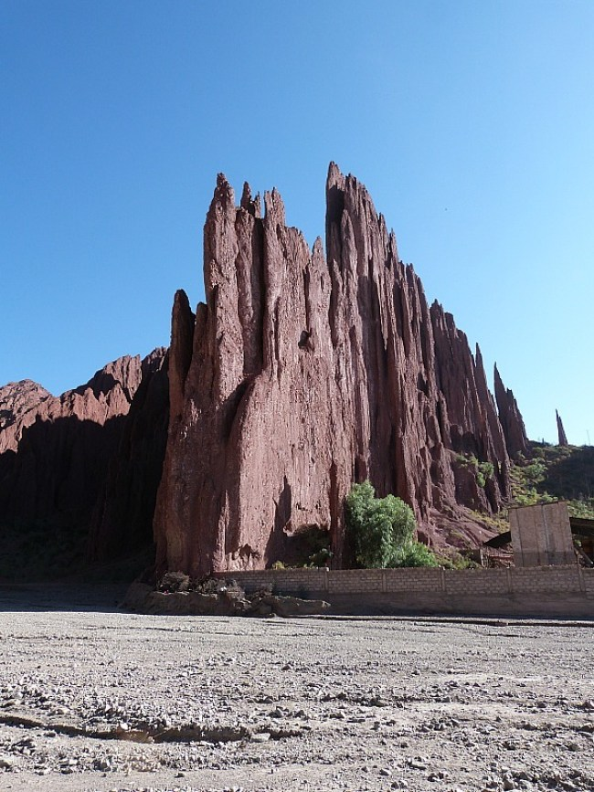 Red rock formations in Tupiza, Southern Bolivia