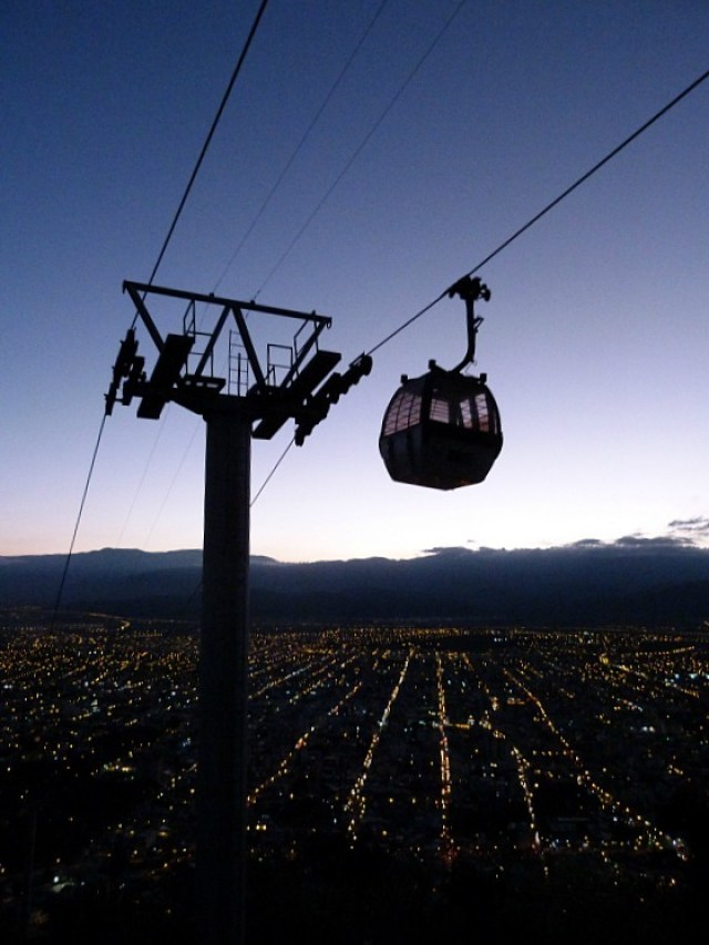 Gondola on San Bernardo Mountain in Salta, Northern Argentina